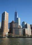 降低曼哈顿全景地平线 免版税库存照片