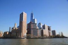 降低曼哈顿全景地平线 免版税库存图片