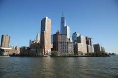降低曼哈顿全景地平线 库存图片