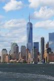 降低曼哈顿全景地平线 免版税图库摄影