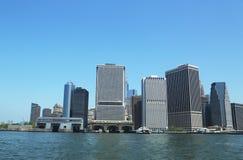 降低曼哈顿全景 免版税库存图片