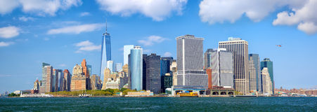 降低曼哈顿全景 库存图片