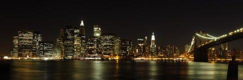 降低曼哈顿全景 免版税库存照片