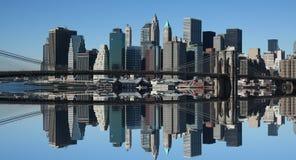 降低曼哈顿反映 库存照片