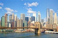 降低曼哈顿地平线 免版税库存照片