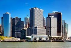 降低曼哈顿地平线 图库摄影