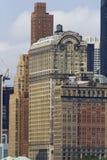 降低曼哈顿大厦 免版税库存照片