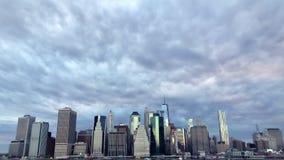 降低曼哈顿纽约地平线 股票录像