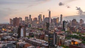 降低曼哈顿纽约 股票录像