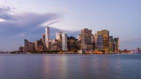 降低曼哈顿纽约 股票视频