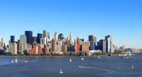 降低曼哈顿航行 库存照片
