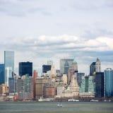 降低曼哈顿街市 库存图片