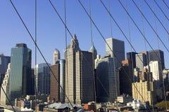 降低曼哈顿视图 库存图片
