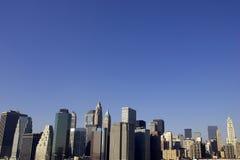 降低曼哈顿视图 免版税库存照片