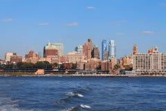 降低曼哈顿都市风景,纽约,美国 免版税库存图片