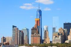 降低曼哈顿都市风景,纽约,美国 库存图片