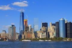 降低曼哈顿都市风景,纽约,美国 免版税库存照片