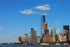 降低曼哈顿都市风景,纽约,美国 库存照片