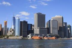 降低曼哈顿都市风景,纽约,美国 图库摄影