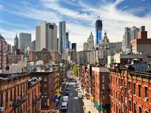 降低曼哈顿都市风景 免版税图库摄影