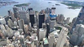 降低曼哈顿鸟瞰图纽约 股票录像