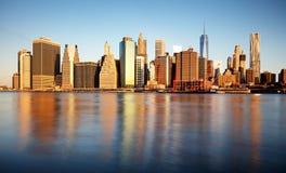 降低曼哈顿,纽约,美国 免版税库存照片