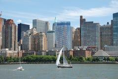 降低曼哈顿nyc地平线 库存照片