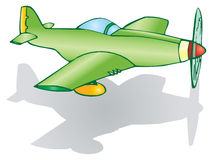 降低的飞机 库存图片