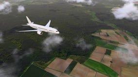 降低的brandless班机和地面在4K下 库存例证