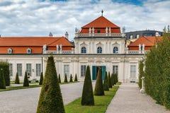 降低眺望楼宫殿,维也纳 库存图片