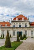 降低眺望楼宫殿,维也纳 免版税库存图片