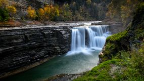 降低秋天Letchworth国家公园, NY 免版税图库摄影