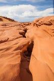 降低羚羊峡谷入口,页 犹他 免版税库存图片