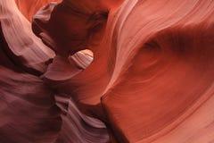 降低羚羊峡谷 库存图片