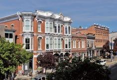 降低耶茨街,维多利亚, BC,加拿大 免版税图库摄影
