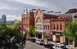 降低耶茨街,维多利亚, BC,加拿大 免版税库存图片