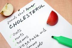 降低胆固醇的食物 免版税库存图片