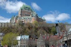 降低魁北克城镇 免版税库存照片