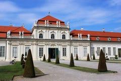 降低贝尔维德雷宫,维也纳,奥地利 免版税库存图片