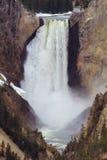 降低黄石公园的秋天大峡谷 库存照片