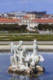 降低Belverdere宫殿-维也纳-奥地利 库存图片