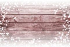 降雪和老委员会 积雪的圣诞节背景 库存照片