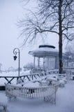 降雪在伊斯坦布尔 图库摄影