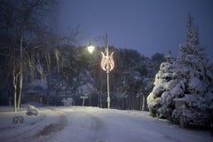 降雪在伊斯坦布尔 免版税库存图片