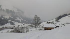 降雪在Feutersoey 免版税库存图片