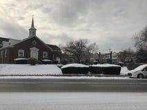 降雪的天 库存图片