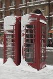降雪,伦敦英国 免版税库存照片
