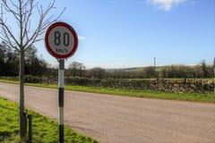 限速标志爱尔兰 库存图片