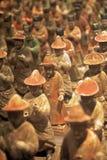 从陕西历史博物馆的被绘的仪仗队,羡,中国 免版税库存图片