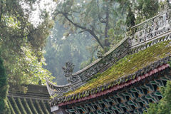 陕西,中国- 2014年11月4日:在Wuhou坟茔的屋顶 著名Histor 免版税库存照片